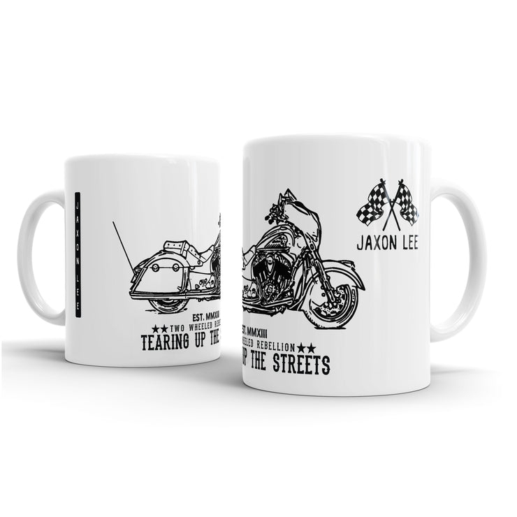 JL Illustration For A Indian Chieftain Motorbike Fan – Gift Mug