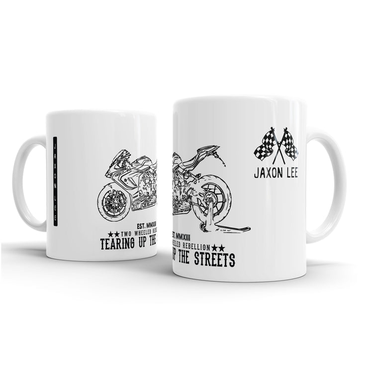 JL Illustration For A MV Agusta F3 800RC Motorbike Fan – Gift Mug