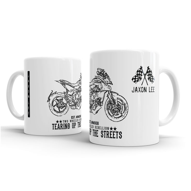 JL Illustration For A MV Agusta Rivale 800 Motorbike Fan – Gift Mug