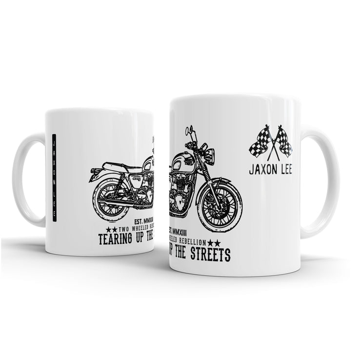 JL Art Mug aimed at fans of Triumph Bonneville T100 Motorbike