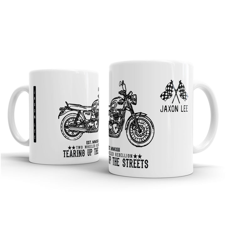 JL Art Mug aimed at fans of Triumph Bonneville T120 Black Motorbike