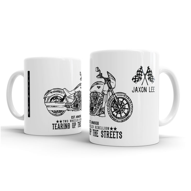 JL Illustration For A Victory Octane Motorbike Fan – Gift Mug