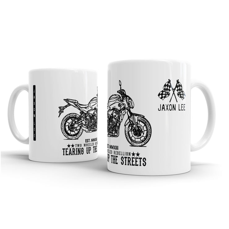 JL Illustration For A Yamaha MT07 Motornike Fan – Gift Mug