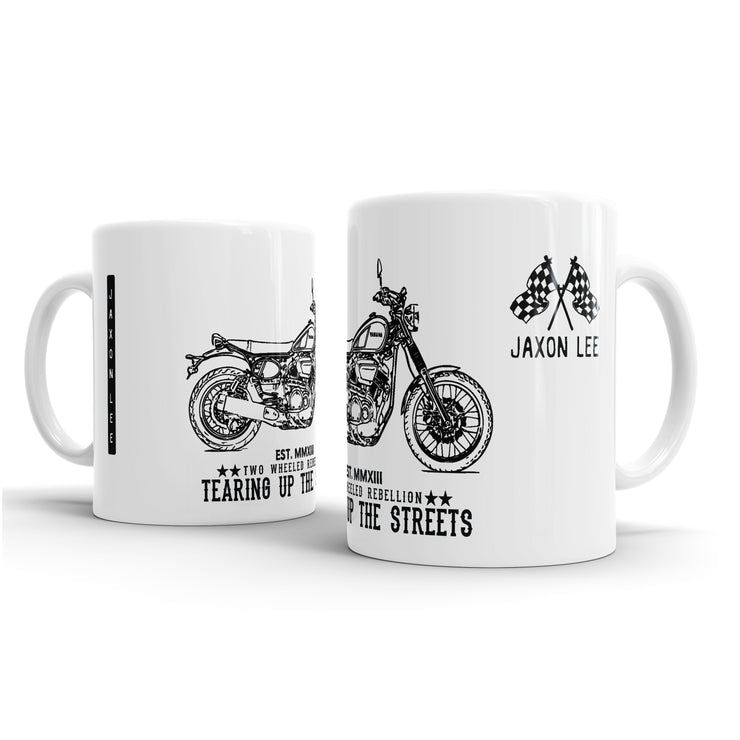 JL Illustration For A Yamaha SCR950 2017 Motorbike Fan – Gift Mug