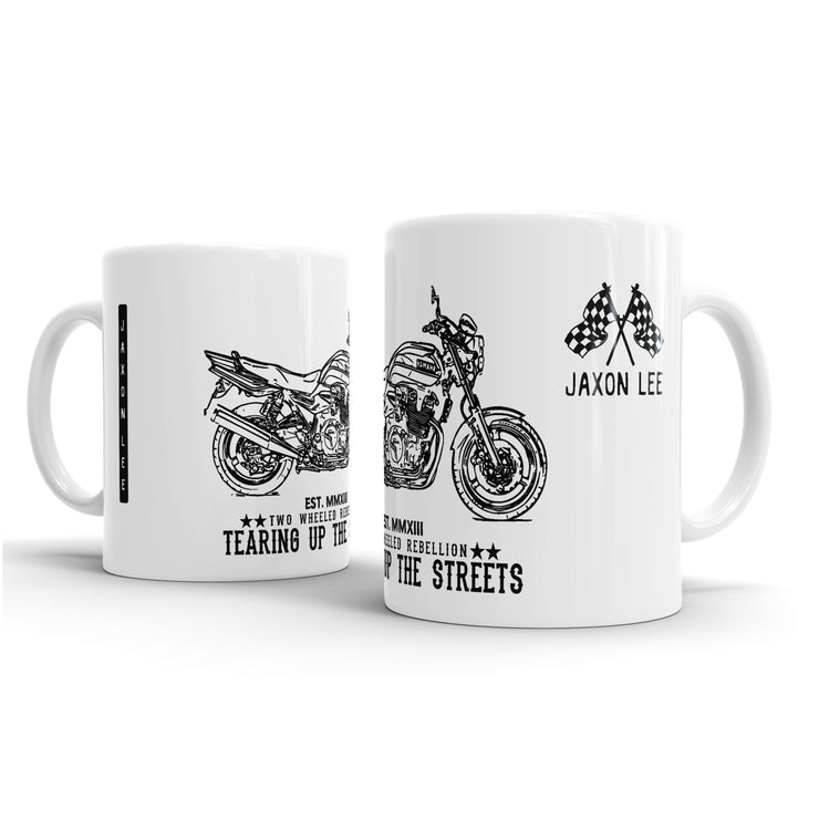 JL Illustration For A Yamaha XJR 1300 Motorbike Fan – Gift Mug