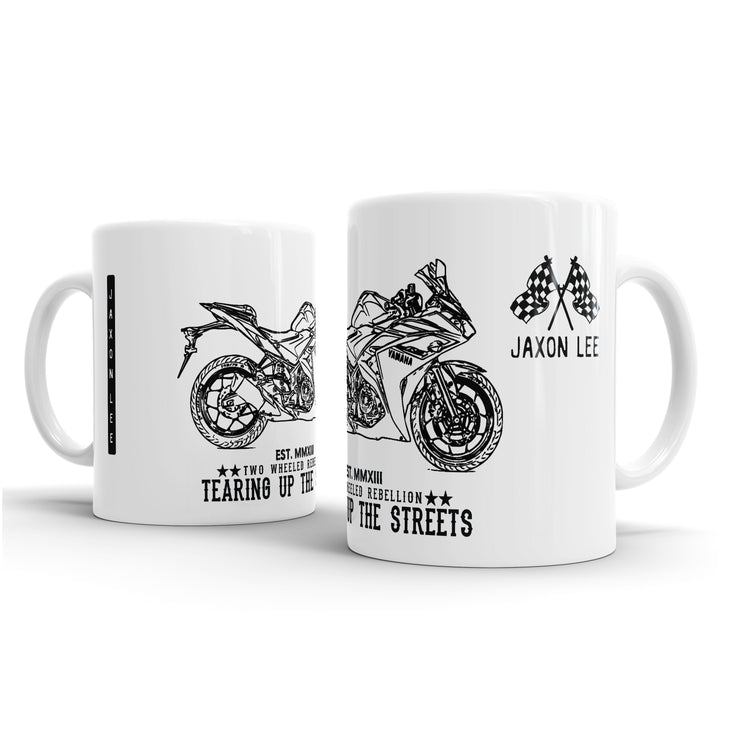 JL Illustration For A Yamaha YZF R3 2016 Motorbike Fan – Gift Mug