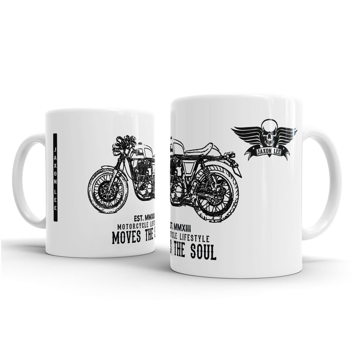 JL Illustration For A Royal Enfield Continental GT Motorbike Fan – Gift Mug