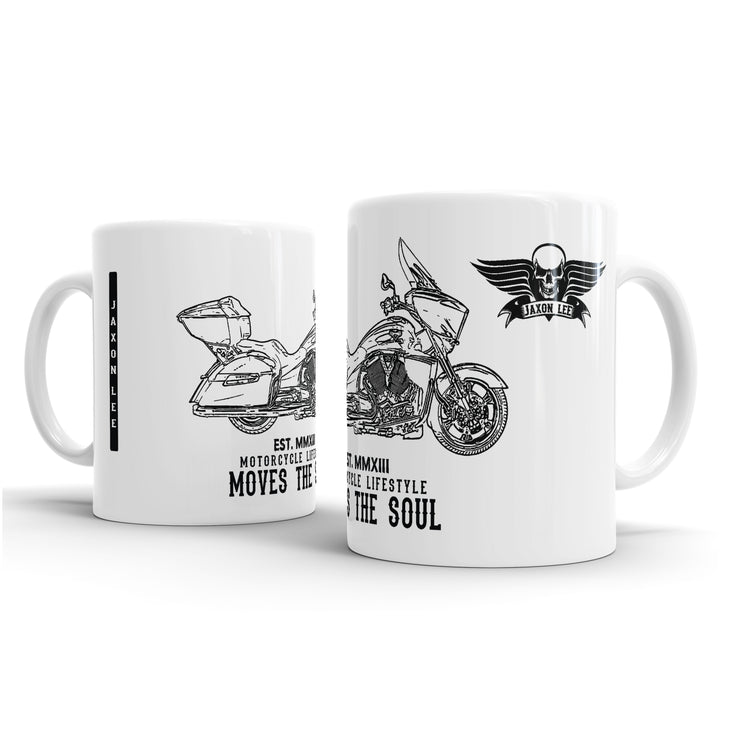 JL Illustration For A Victory Cross Country Tour Motorbike Fan – Gift Mug