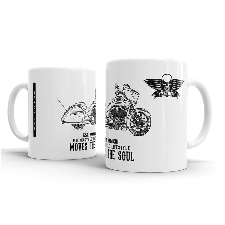JL Illustration For A Victory Magnum X1 Stealth Edition Motorbike Fan – Gift Mug