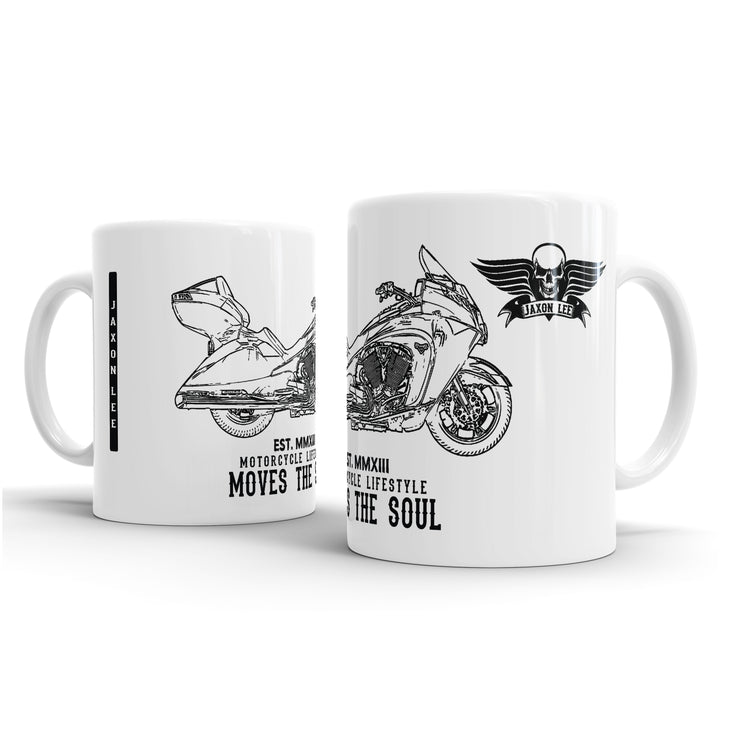 JL Illustration For A Victory Vision Motorbike Fan – Gift Mug