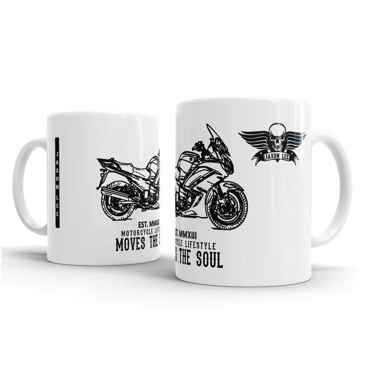 JL Illustration For A Yamaha FJR1300 Motorbike Fan – Gift Mug