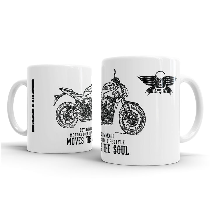 JL Illustration For A Yamaha MT07 2016 Motorbike Fan – Gift Mug