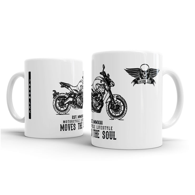 JL Illustration For A Yamaha MT09 2017 Motorbike Fan – Gift Mug
