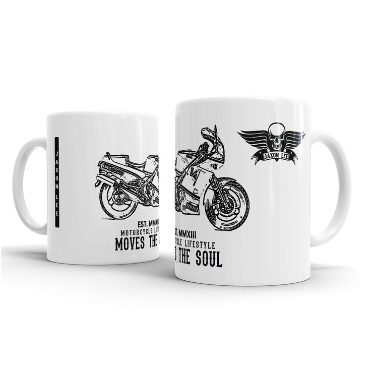 JL Illustration For A Yamaha RD500 YPVS LC Motorbike Fan – Gift Mug