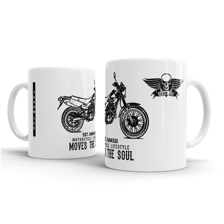 JL Illustration For A Yamaha TW200 Motorbike Fan – Gift Mug