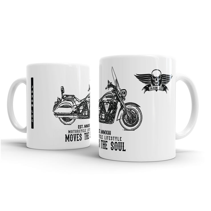 JL Illustration For A Yamaha V-Star 1300 Tourer 2017 Motorbike Fan – Gift Mug