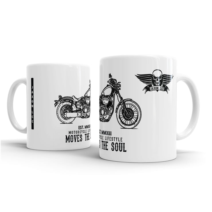 JL Illustration For A Yamaha XV 950 Motorbike Fan – Gift Mug