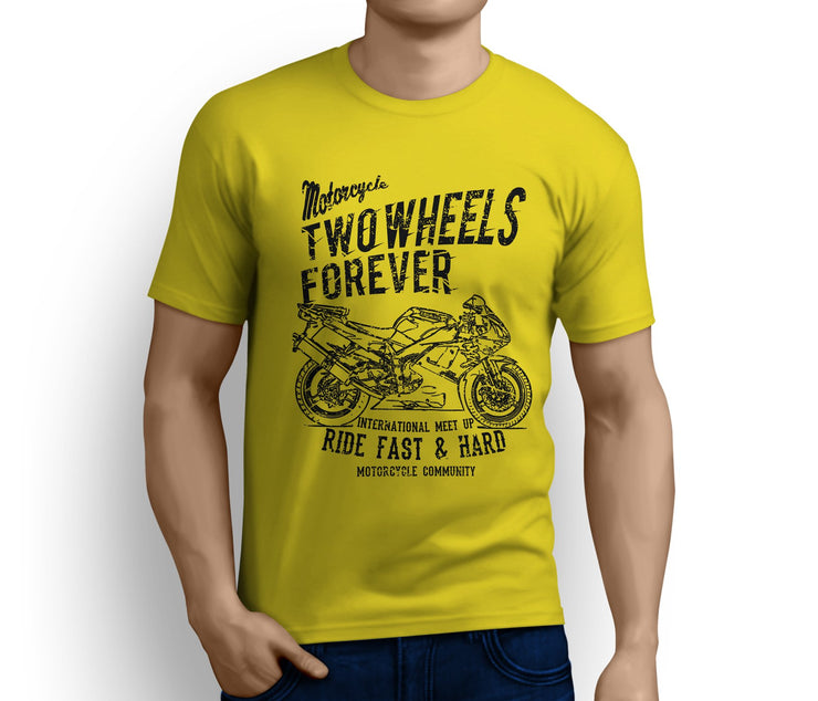 RH Illustration For A Yamaha YZF-R1 2001 Motorbike Fan T-shirt - Jaxon lee