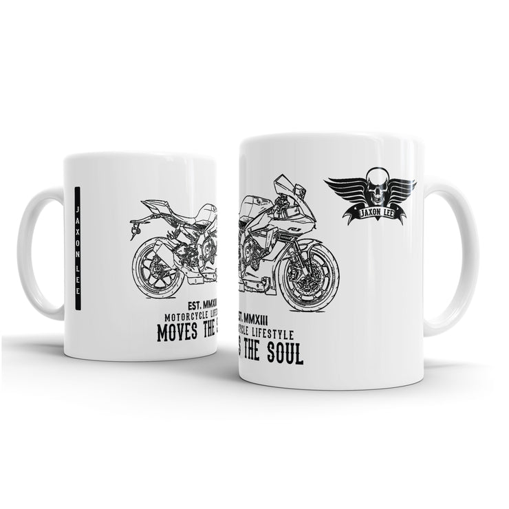 JL Illustration For A Yamaha YZF-R1 2016 Special Edition Motorbike Fan – Gift Mug