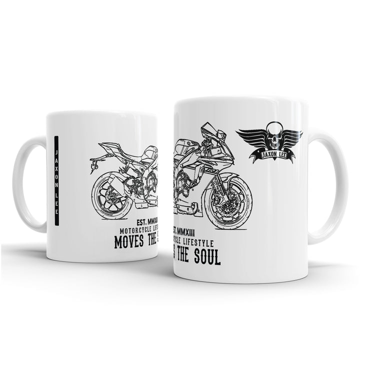 JL Illustration For A Yamaha YZF-R1 2017 Motorbike Fan – Gift Mug