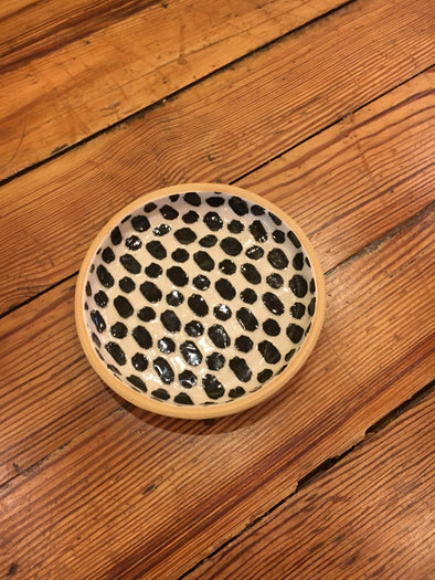 Terrafirma Ceramics Black Dot Bottle Coaster
