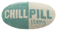 Hooked Wool Pillow - Chill Pill