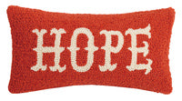 Hooked Wool Pillow - Hope