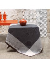 "Palais Persan Charcoal Tablecloth 69""x69"""