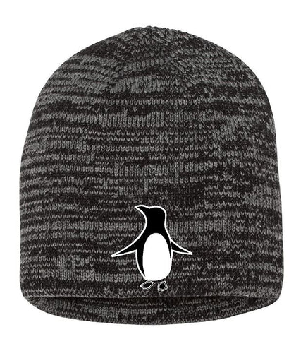 "Embroidered 8"" Marled Knit Beanie"