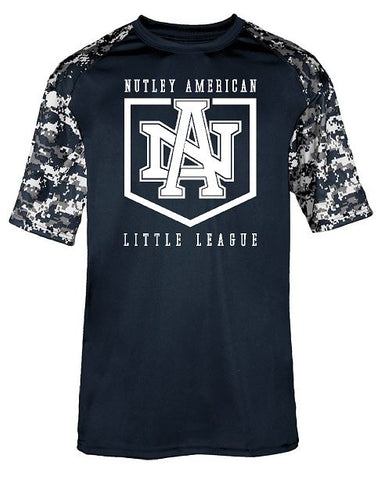 Badger - Performance Digital Camo Sport T-Shirt Navy with White Logo