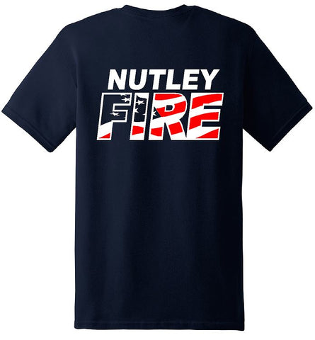 Gildan - Heavy Cotton™ T-Shirt. Navy with FIRE design