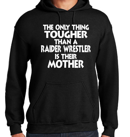 Gildan - Heavy Blend™ Hooded Sweatshirt Wrestling Mom (Black)