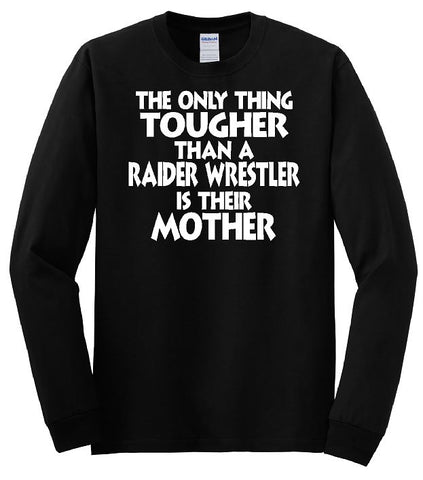 Gildan - Heavy Cotton™ Long Sleeve T-Shirt. Wrestling Mom (Black)