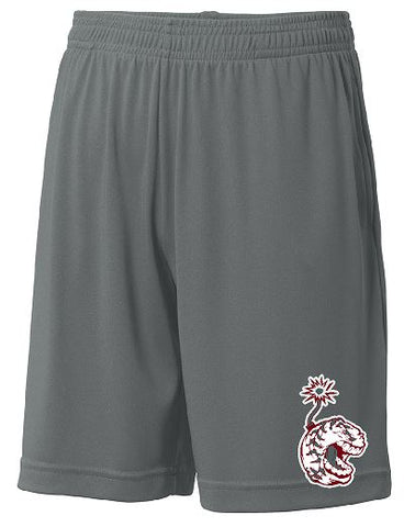 Sport-Tek® PosiCharge® Competitor™ Pocketed Short with Dinger Logo