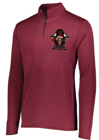 AUGUSTA SPORTSWEAR ATTAIN WICKING EMBROIDERED 1/4 ZIP PULLOVER