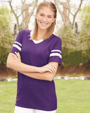 Augusta Sportswear - V-Neck Jersey with Striped Sleeves