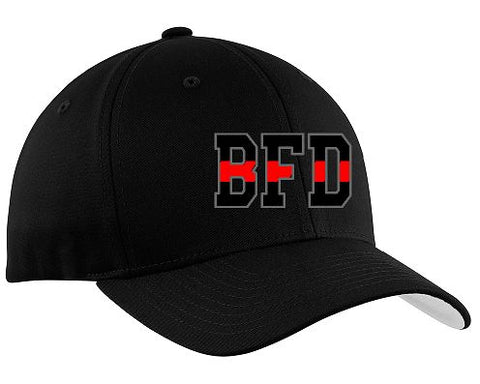 BFD Flex-Fit Ball Cap Red Line