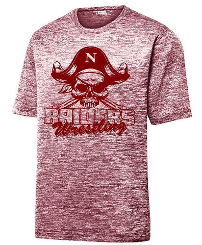 Maroon Electric Heather Tee with Maroon Logo