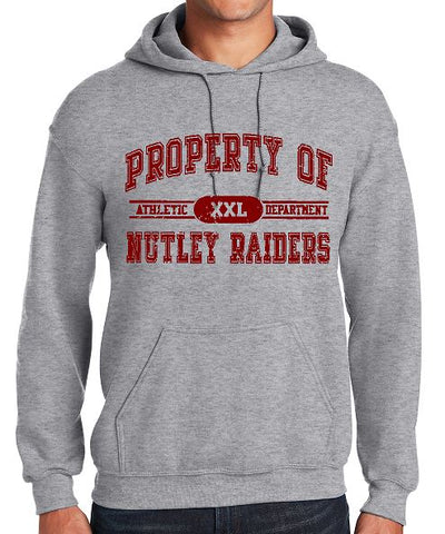 Gildan - Heavy Blend™ Hooded Sweatshirt Distressed Property of Nutley Raiders (Sport Grey)