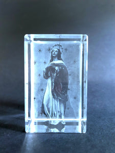 Immaculate Conception - 3D Crystal Engraved