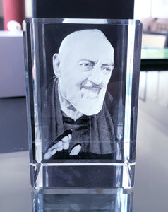 Padre Pio - Crystal Engraved