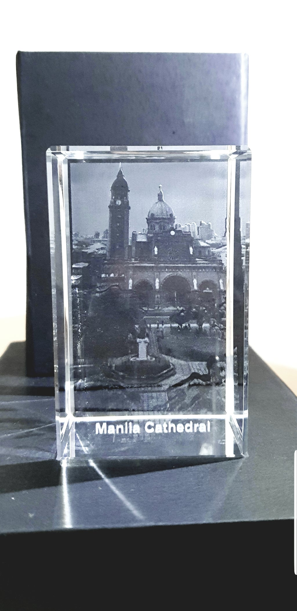 Manila Cathedral - 3D Crystal Engraved