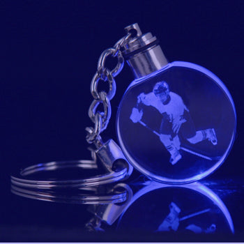 Round Keychain with LED light
