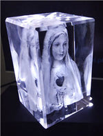 Our Lady Fatima - 3D Crystal Engraved
