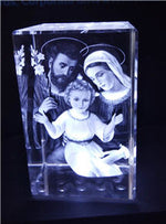 Holy Family - 3D Crystal Engraved