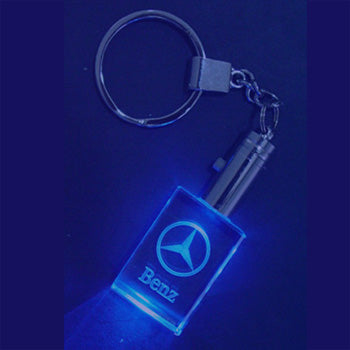 Rectangle Keychain with LED light