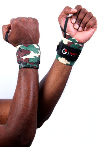 Men's Army Camouflage wrist wraps