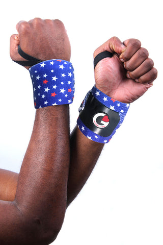 Men's Captain America wrist wraps