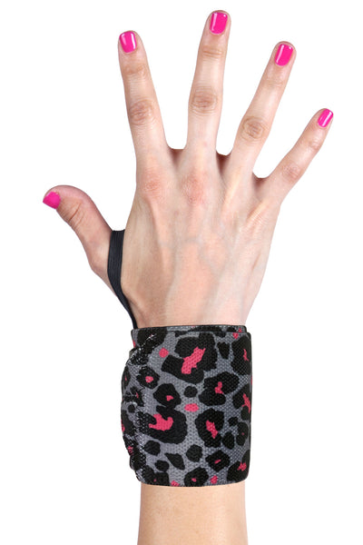Rock Star Leopard wrist wraps