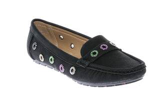 6ed24bede4b CALICO KIKI Women s Comfort Faux Suede Studded Accent Slip-on Moccasins  Penny Loafers Boat Shoes